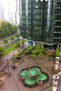 Coal harbour courtyard