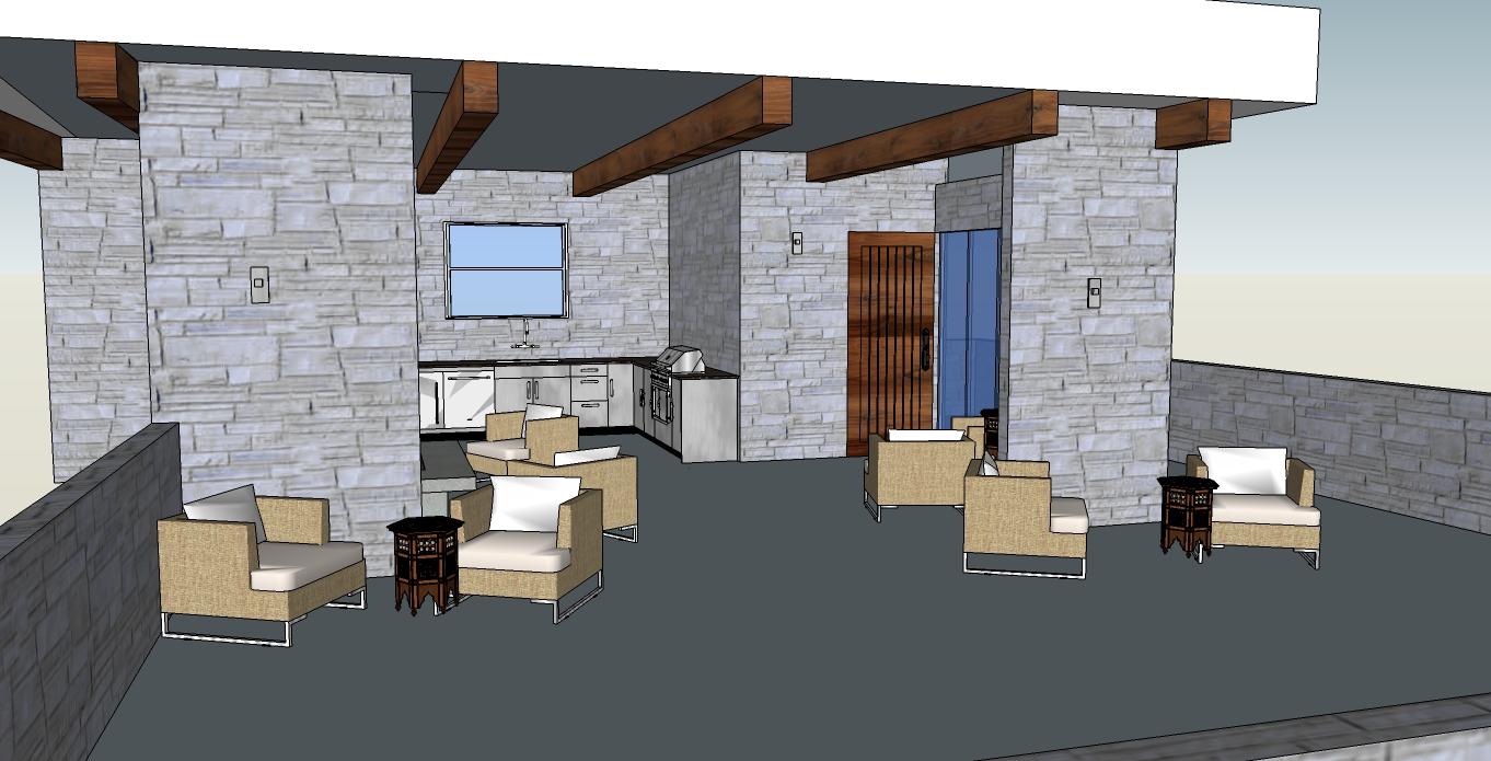 Hatzik lake outdoor kitchen 3